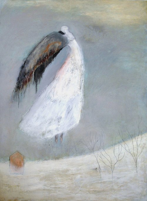 Weight of wings greeting card or notecard jeanie tomanekpaintings weight of wings greeting card or notecard m4hsunfo