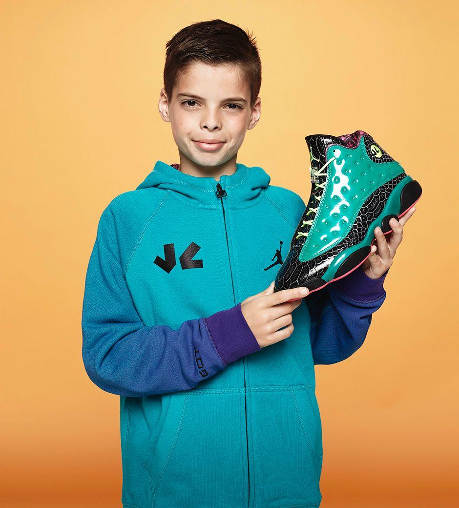John Charles, Age 11, Air Jordan 13, $225