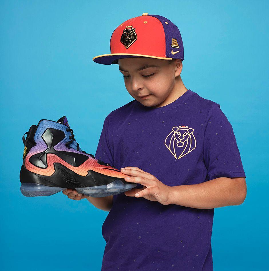 Kian Safholm, Age 11, Nike LeBron 13,$200