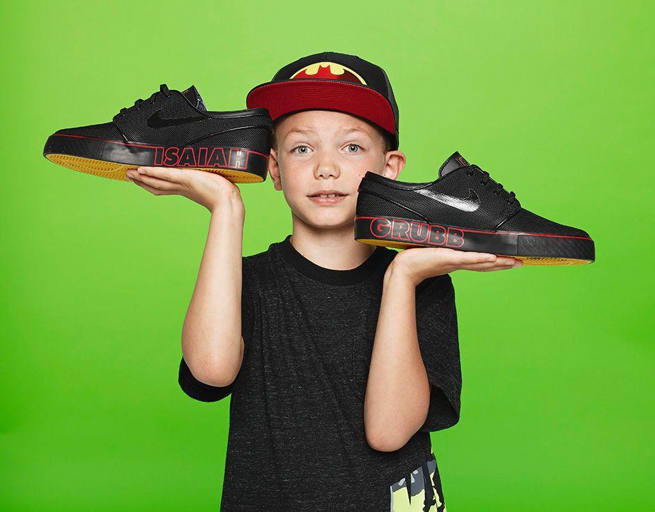 Isaiah Neumayer-Grubb, Age 8, Nike Zoom Stephan Janoski, $85