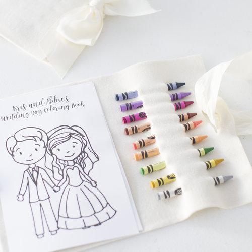 Personalized Wedding Coloring Book — OKOTA