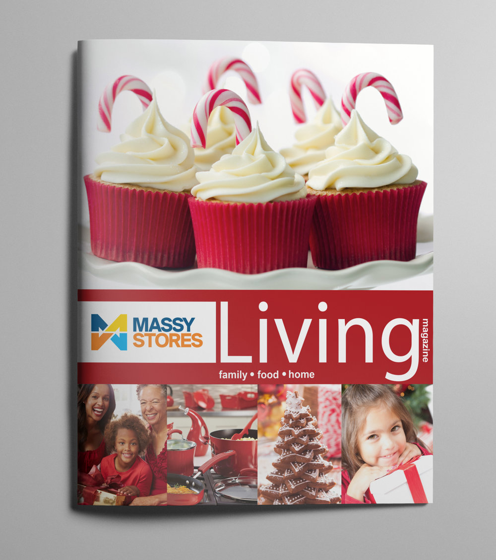 Massy Living Issue 2 - Client: Phoenix Communications Ltd.Description: Design and Layout Artwork for Massy Living, the first regional magazine published by Phoenix Communications for Massy Stores Ltd. This magazine features delicious Christmas inspired savoury and sweet recipes that are sure to make your taste buds tingle. Envisioned as a