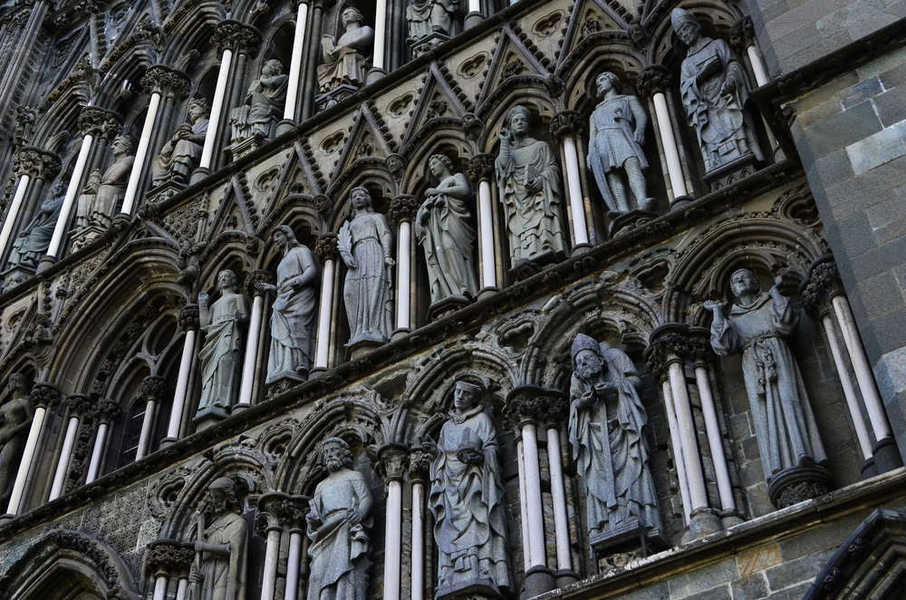 Nidaros Cathedral Statues.