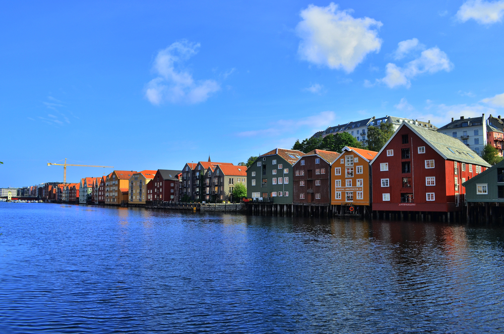 Beautiful Trondheim, Norway.
