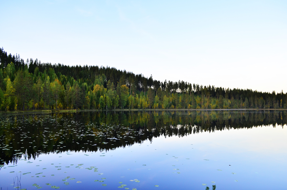 Lake Reflections, Jämtland, Sweden.
