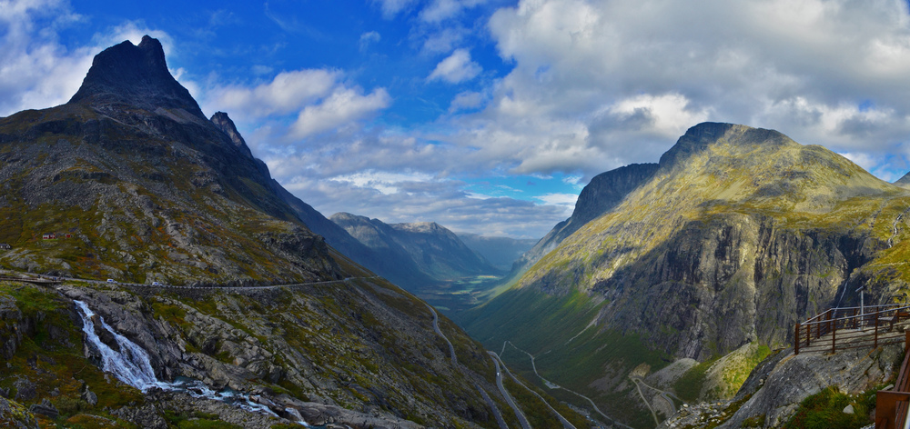 Panorama of Trollstigen, Norway.