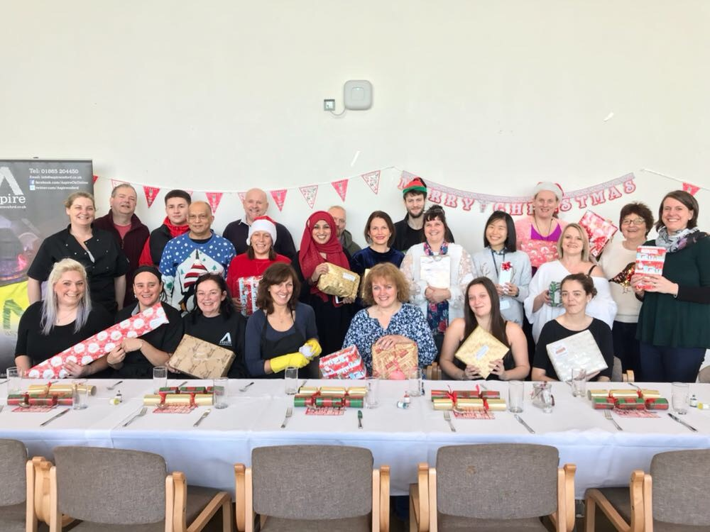 Volunteers at the Place at the Table Christmas lunch