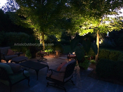 Landscape lighting Lake Zurich IL