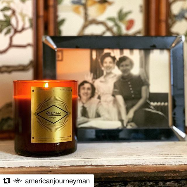 #Repost @americanjourneyman ・・・ Introducing the Heritage candle, an exclusive scent for American Journeyman by @40waxcandles . . . We all have a need to rekindle with a time before the blue glare of our technological world took us over. A time when your senses were attuned to the scent of the ground during a rain storm and the distinct scratch of a pencil lead on paper. When the comfort of leather and wood signaled warmth vice the cool and airy stainless steel and corian. That's where our heritage lies. The lineage of those who came before us, quietly whispering guidance to us that keeps our moral compass straight and to forge ahead with a pioneering spirit. The Heritage candle captures the sawdust, sweat, tears, and warmth of that spirit to keep you grounded and remind you that you are only one of many before you, and many to come after. . #heritageforhustlers