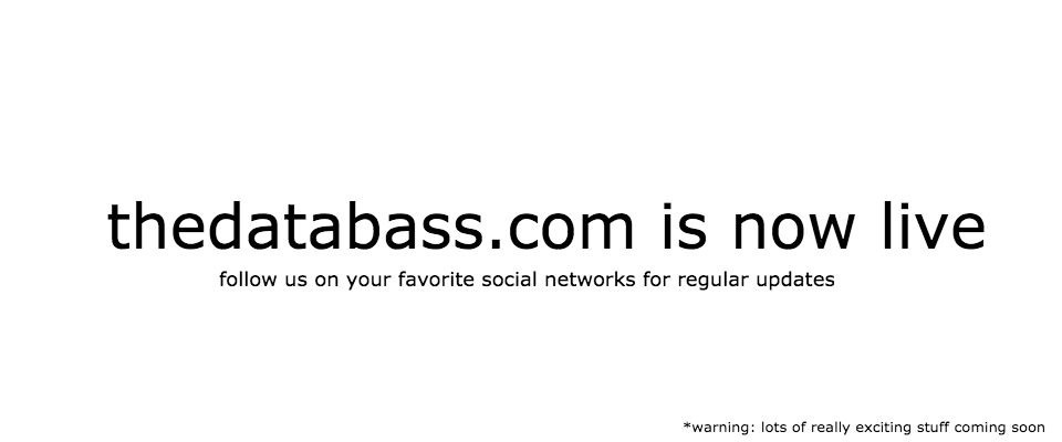 thedatabass.com is now live