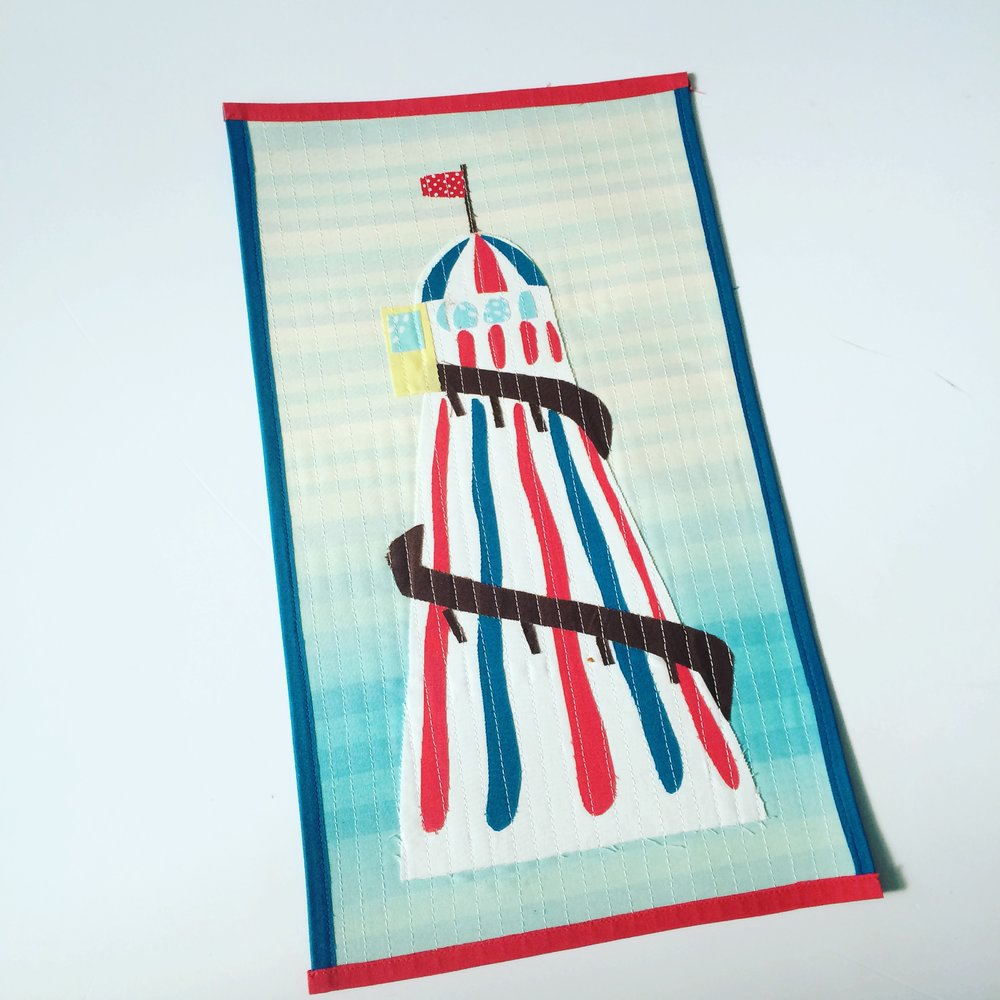 My 2016 pieces were mainly applique, such as this Helter Skelter based on a photograph.