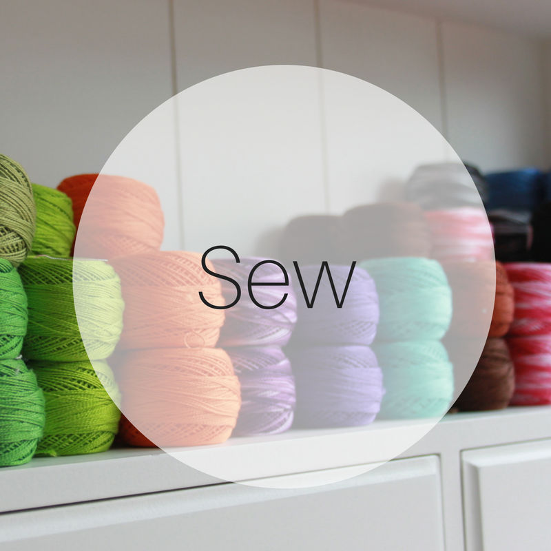 Sew   Thread, needles and haberdashery