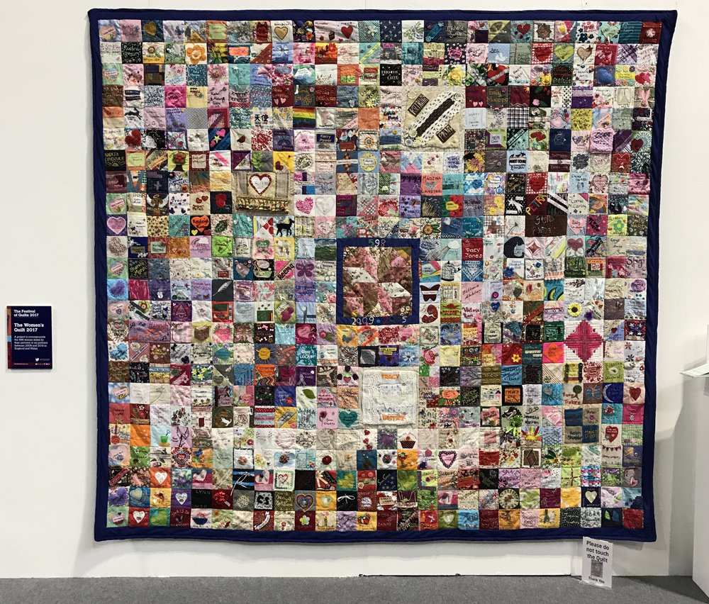The Women's Quilt 2017 . I follow this account on Twitter and so it was on my list of things to see. Tough to look at, it has been made as a tribute to the 598 women killed by domestic violence between 2009 and 2015. I couldn't help imagining every one of those women standing there, and their families and friends - the sheer number is horrendous. It is the quilt that I always have to talk about if people mention FoQ.