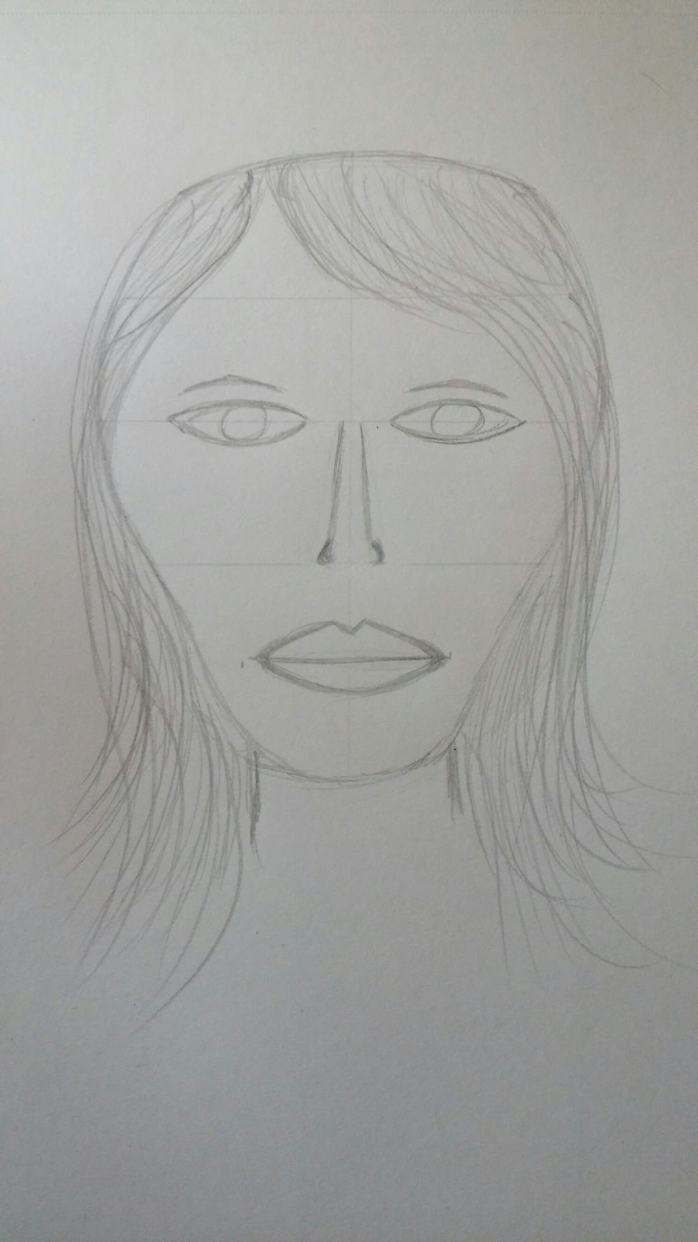My 1st sketched face and the inspiration.