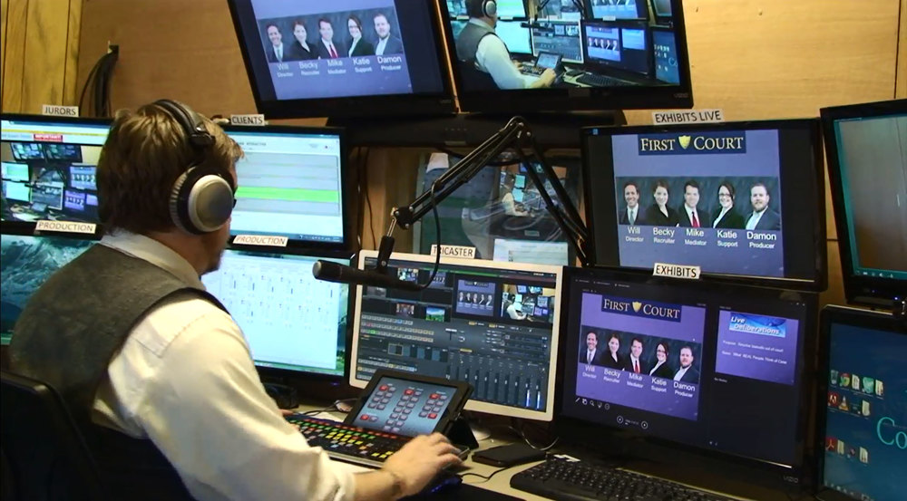 First Court production room