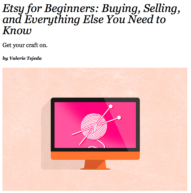 Bouton talks with Teen Vogue author Valerie Tejeda about running an Etsy shop.