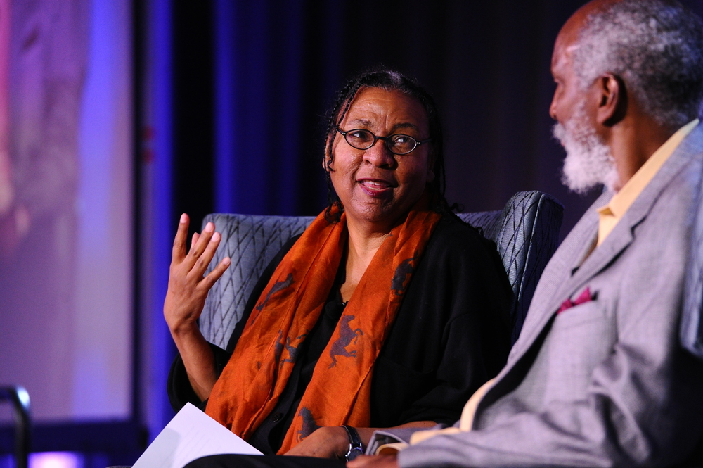Left to right: bell hooks, john a. powell