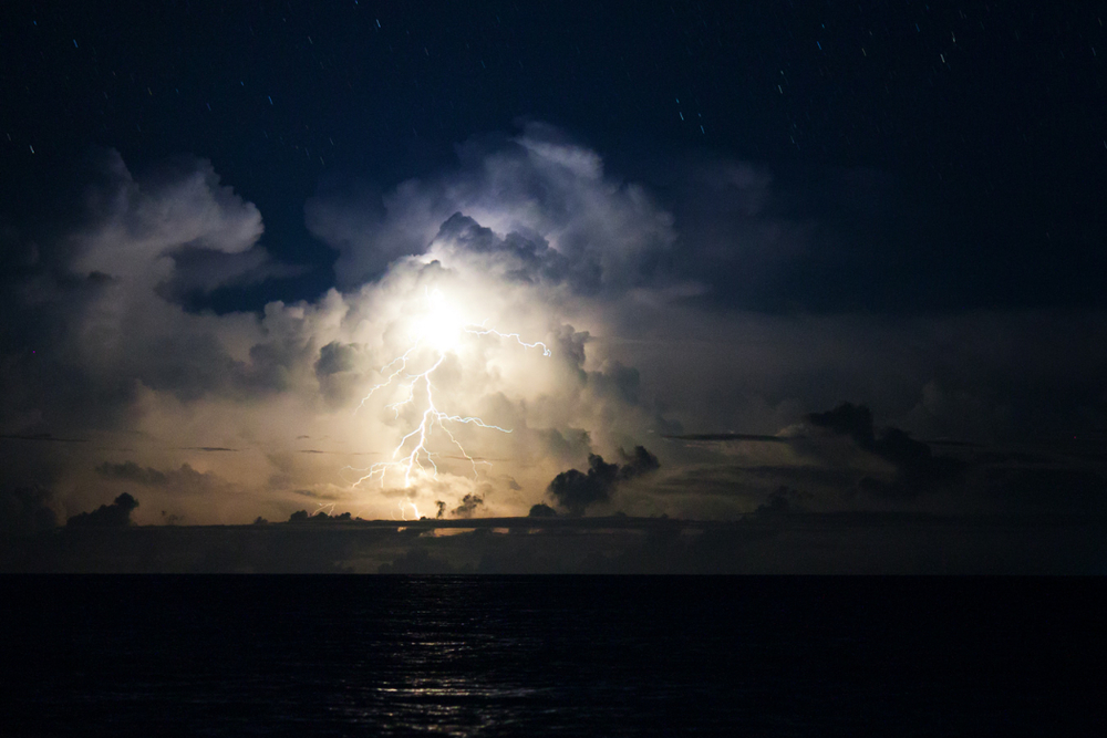 Tropical lightning, Kuata, Fiji.