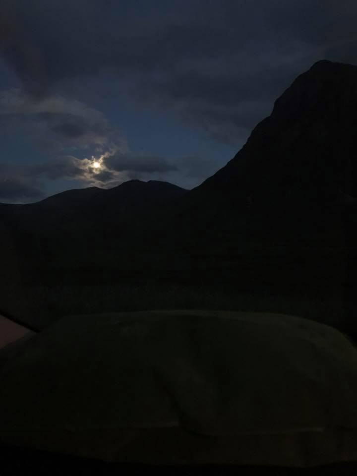 Moonlight over Buachaille - credit the Wife for this image taken on her iPhone