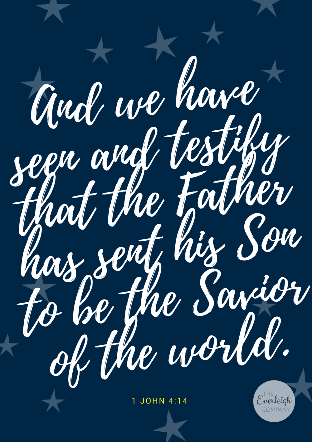 Christmas Scripture Wall Art Printable Everleigh Company