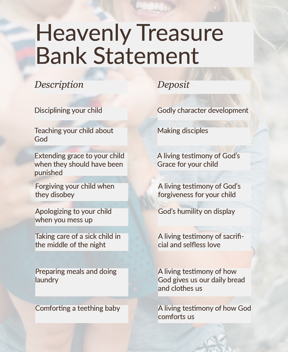 Heavenly Treasure Bank Statement | Everleigh Company | Biblical Encouragement and Practical Resources for Christian Women | Christian Blog