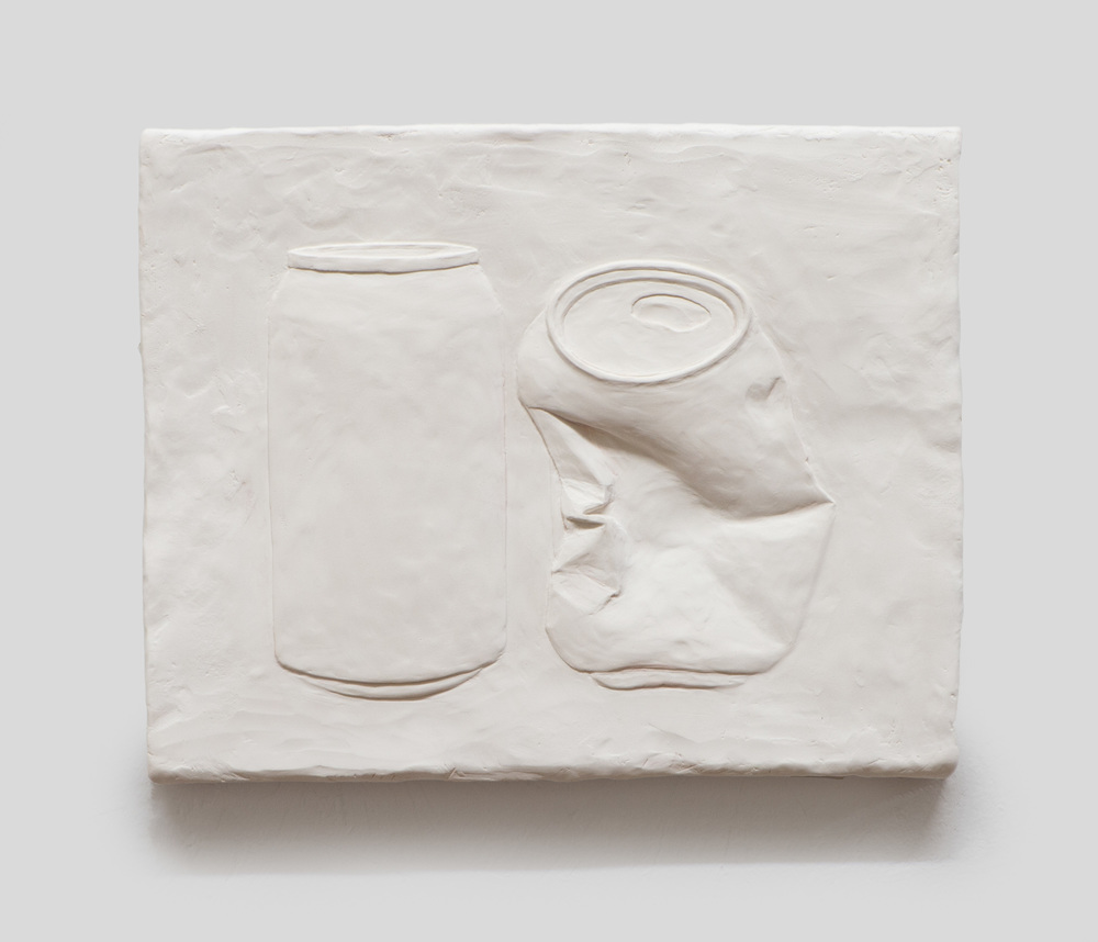 Anthony Miserendino  Crushed , 2015 Gypsum cement, fiberglass cloth, and wood 8 x 10 x 1 inches