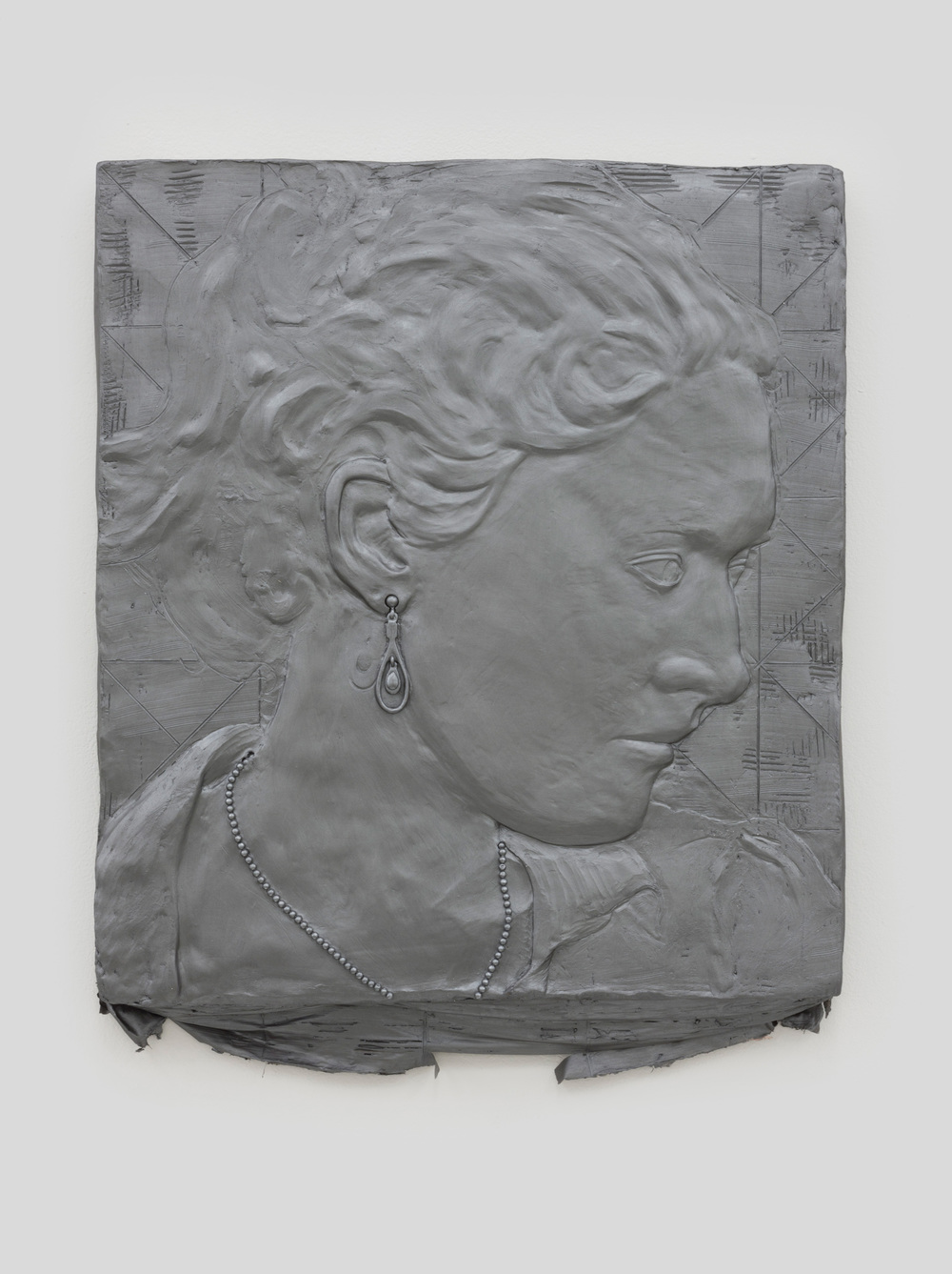 Anthony Miserendino  Annie , 2014 Acrylic paint, gypsum cement, fiberglass cloth, and wood 22 x 20 x 2 inches