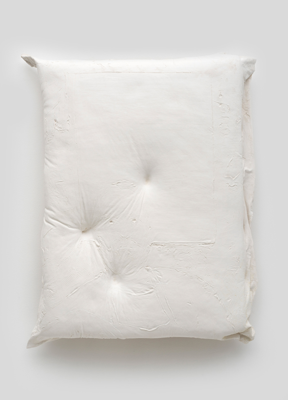 Untitled , 2014 Gypsum cement, fiberglass cloth, and wood 34 x 30 x 8 inches
