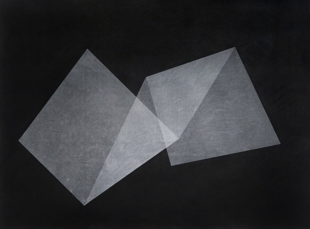 Christopher Iseri  Folded Shape , 2015 Ink and tracing paper on paper 30 x 42 inches