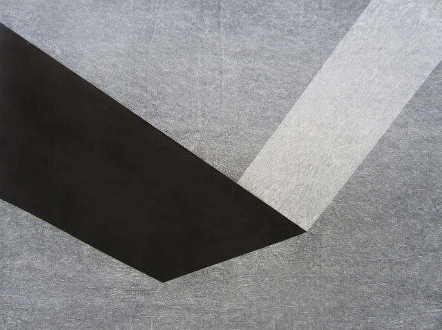 Chris Iseri  Space and Shape IV , 2014 Ink and tracing paper on paper 8 x 24 inches