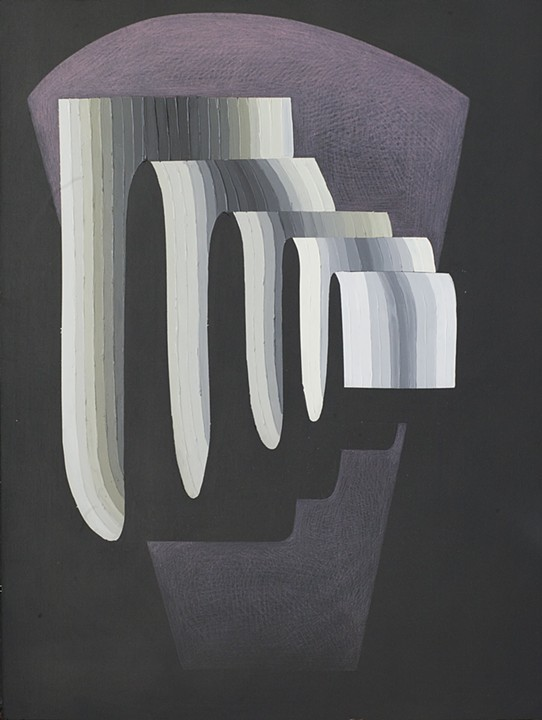 Justin Margitich  Circuitous #7 , 2015 Acrylic and colored pencil on panel 24 x 18 inches