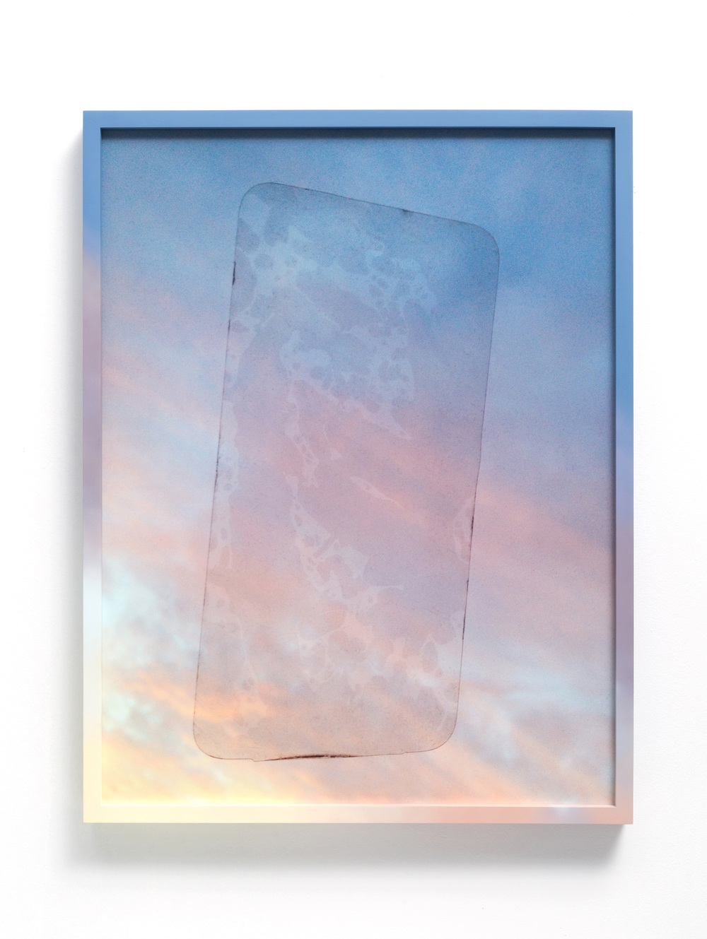IMG 7036_2/8/14, 5:37:37 PM , 2014 Film lamination, archival pigment print, sintra, airbrushed acrylic, and wood frame 23 1/2 x 30 1/2 x 2 in (60 x 78 x 5 cm)