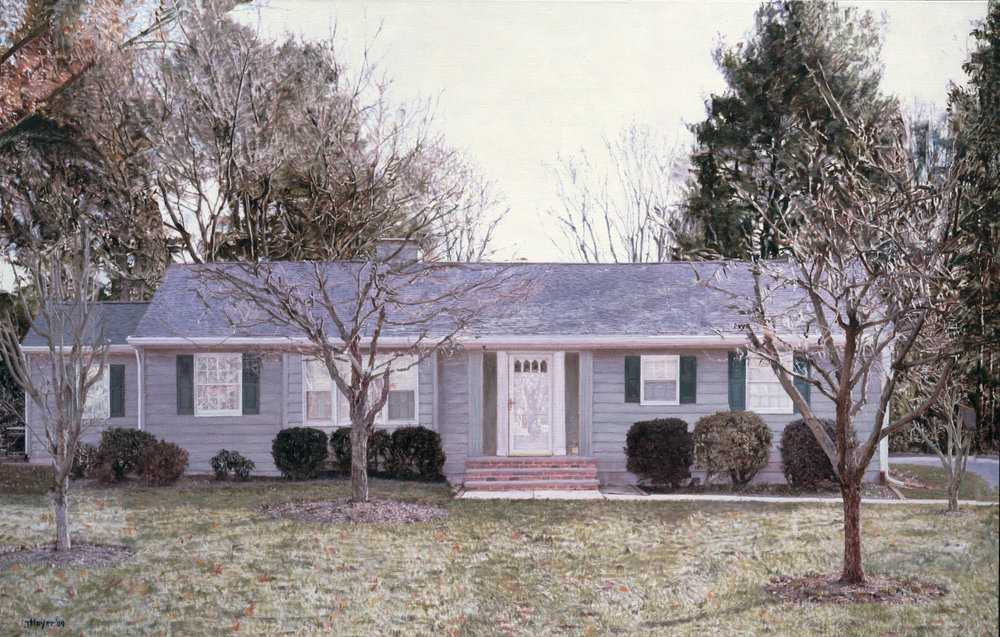 Yardley Ranch House , 2009 Oil on linen 35 1/2 x 59 inches