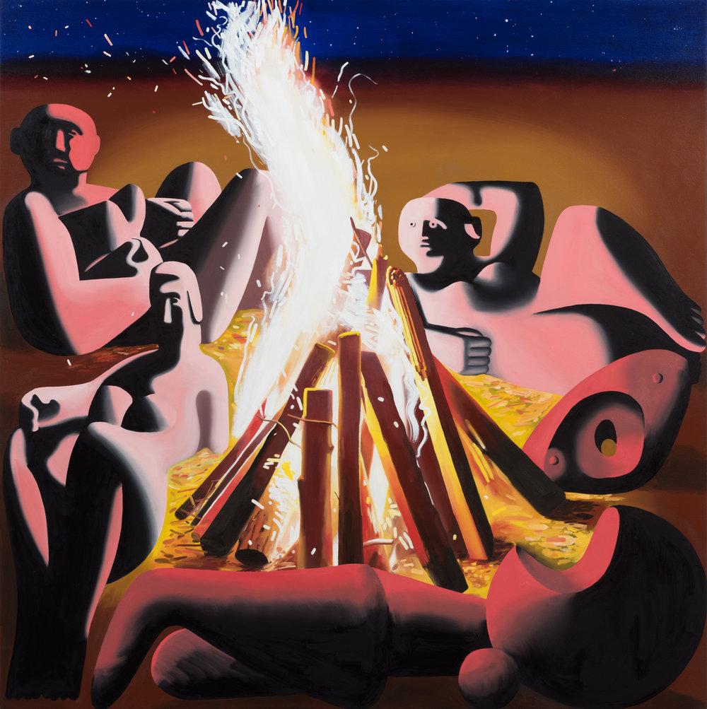 Eleanor Swordy  Auriga Rising , 2017 Oil on canvas 72 x 72 inches