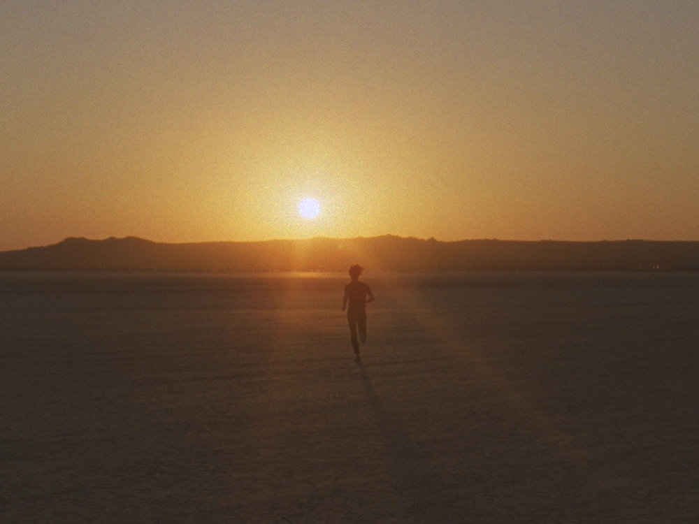 Christopher Richmond  Chasing the Horizon , 2009 16mm color film transferred to HD 8 minutes, 48 seconds