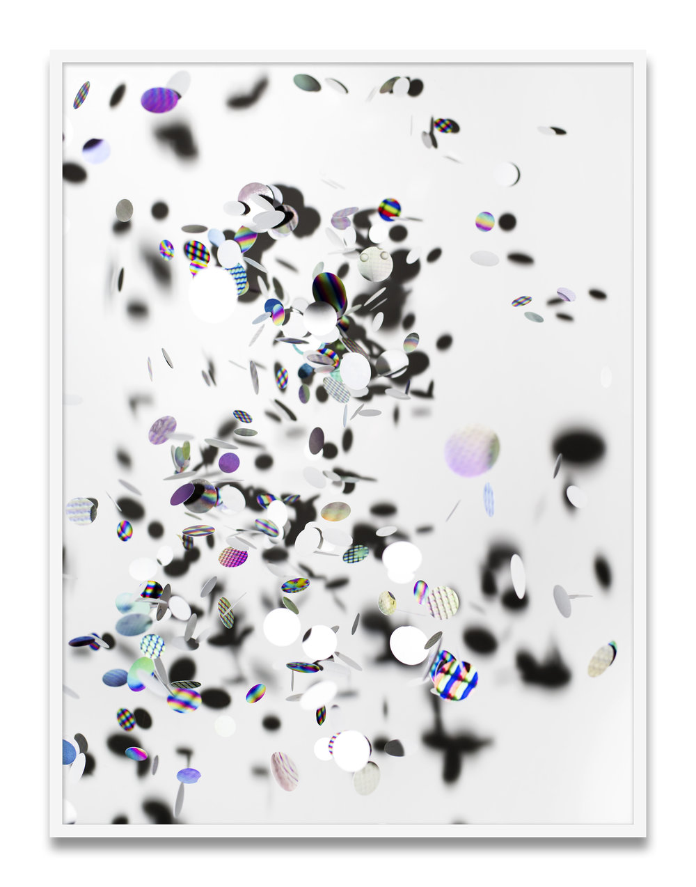 perforations (tossed) , 2016 Archival pigment print 30 x 21 1/2 inches