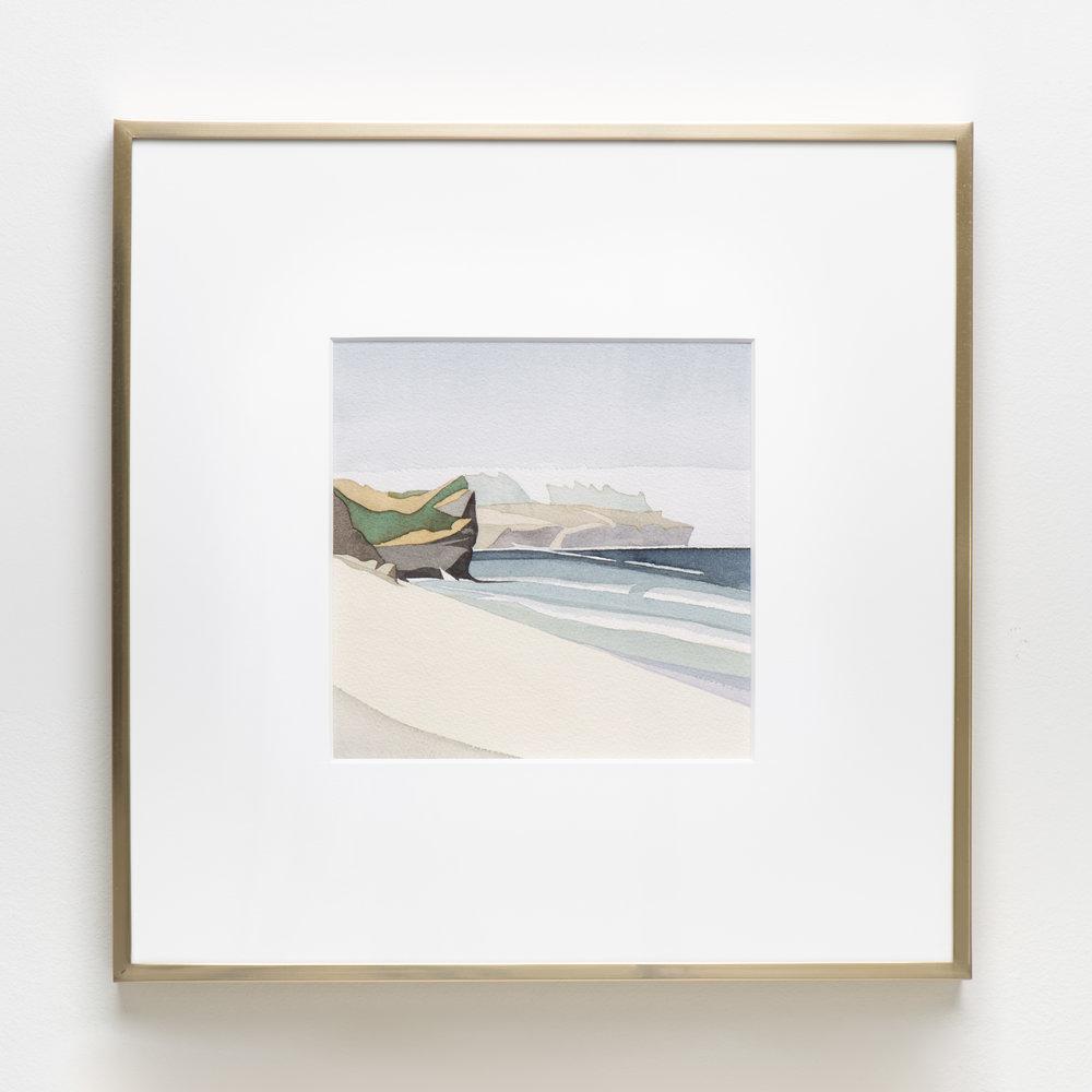 Kilifi Beach, Kenya , 2018 Watercolor on paper 15 7/8 x 15 7/8 inches