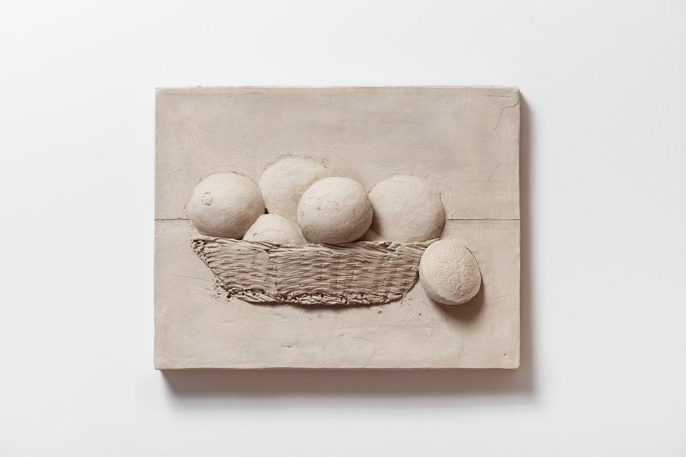 Anthony Miserendino  Orange Basket , 2017 Cement 17 x 13 x 3 inches