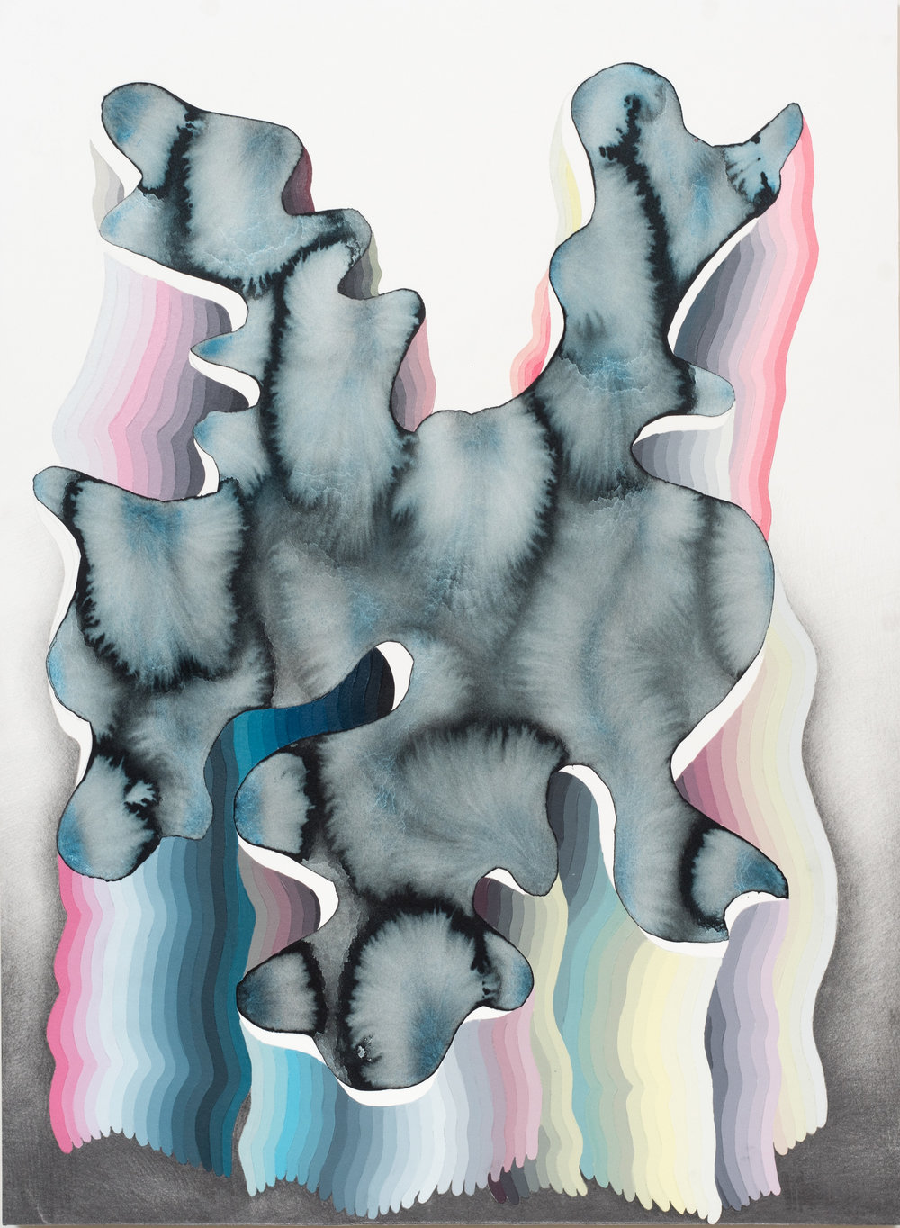 Justin Margitich  Variations 10 , 2015 Acrylic, watercolor and pencil on panel 30 x 22 inches