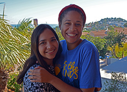 Go Now missionaries Naraim Enriquez (left) and Priscille Murphy (right) are served at the Alfa & Omega Baptist camp in Denia, Spain during the summer of 2016.