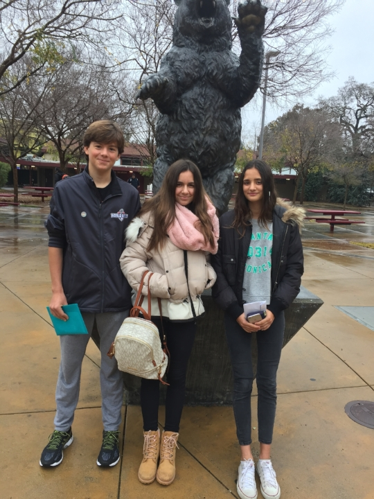 Kiko, Maria and Leah take a tour of Menlo Atherton High School.