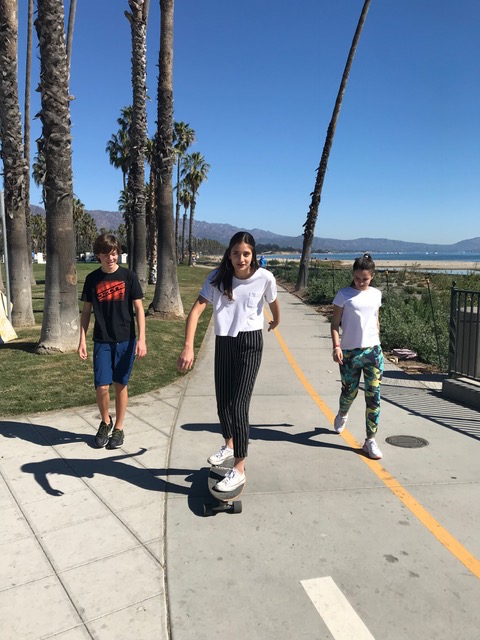 Kiko, Maria and Leah in Santa Barbara at Winter Break
