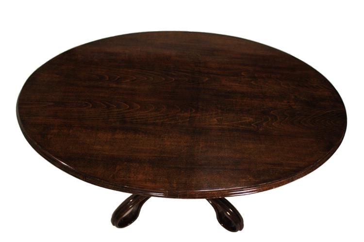 Marvelous Item # 05 6 Austrian Thonet Bent Beechwood Oval Table.
