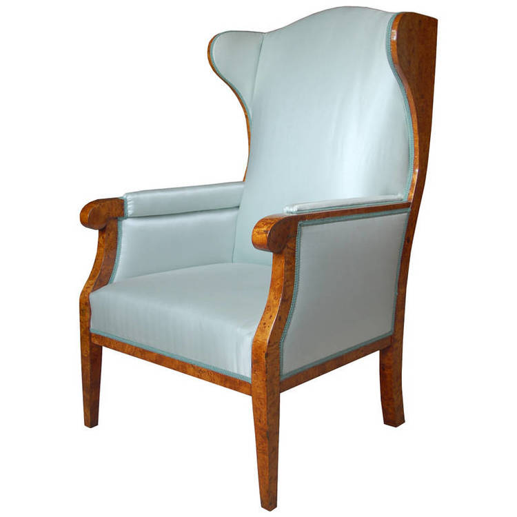 Biedermeier wing chair