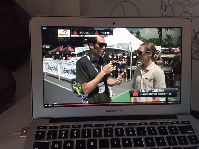 My first time commentating for Ironmanlive