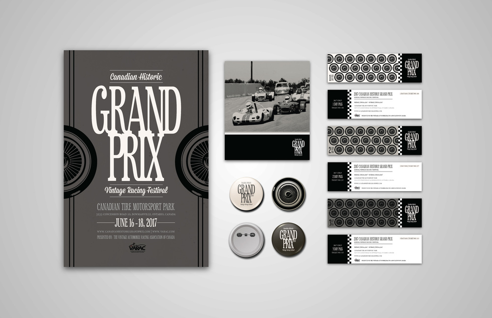 CANADIAN HISTORIC GRAND PRIX FESTIVAL   BRANDING  /  PRINT  /  DIGITAL
