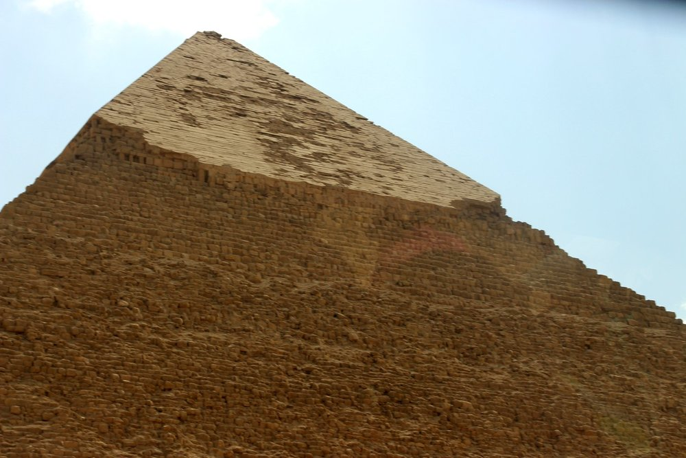 This pyramid still has it's original Limestone cap!