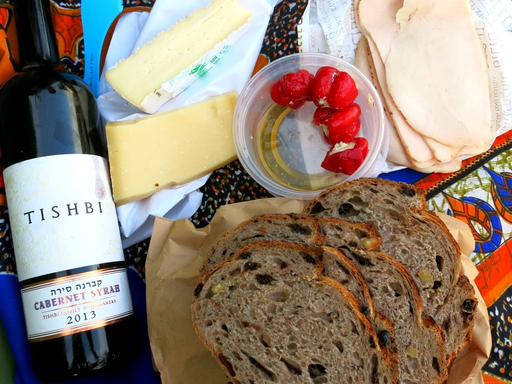Picnic, Wine, Cheese, Israel, Jerusalem