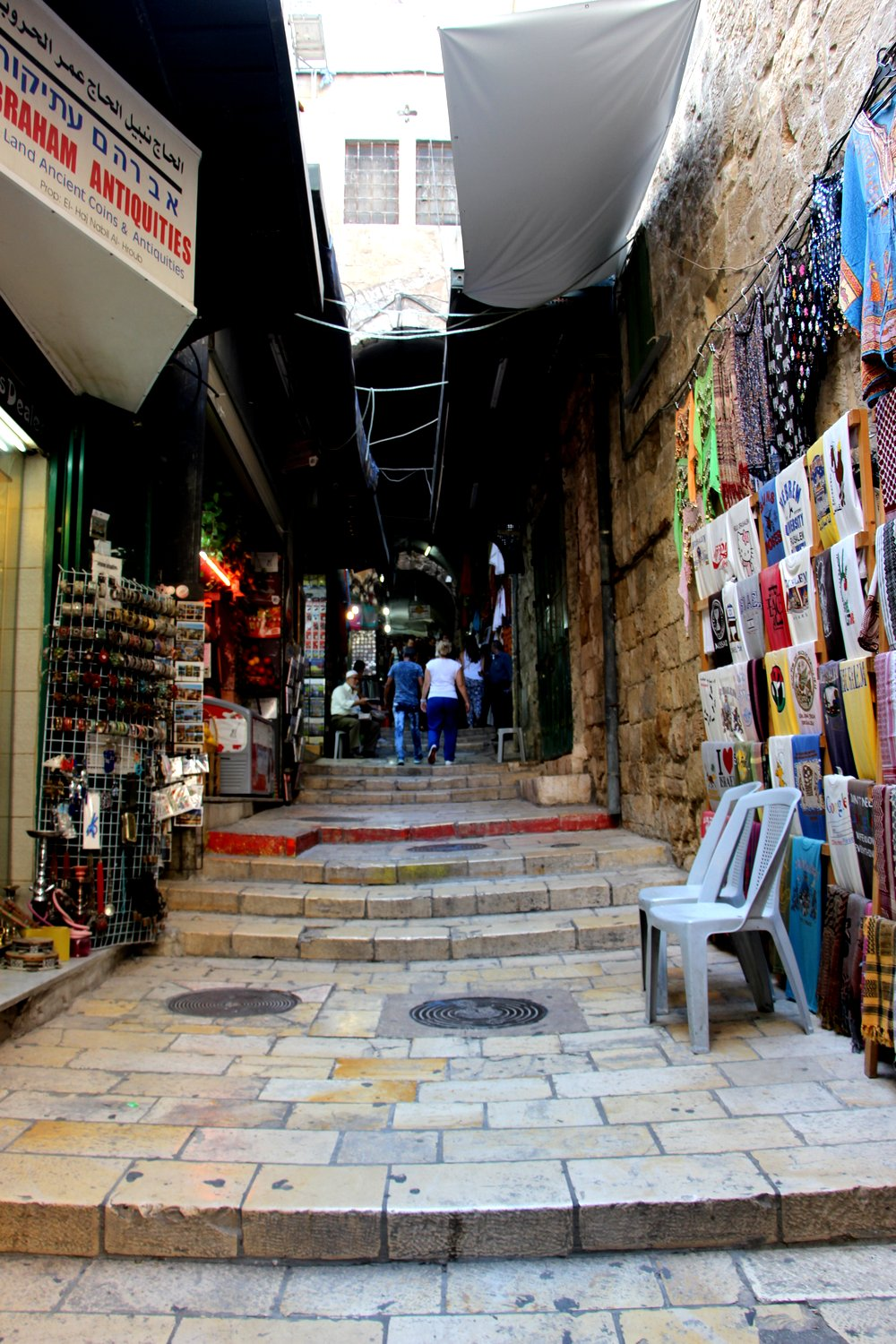 The Way winds through the normal streets of the Old City, just as Jesus would have as he carried the cross.
