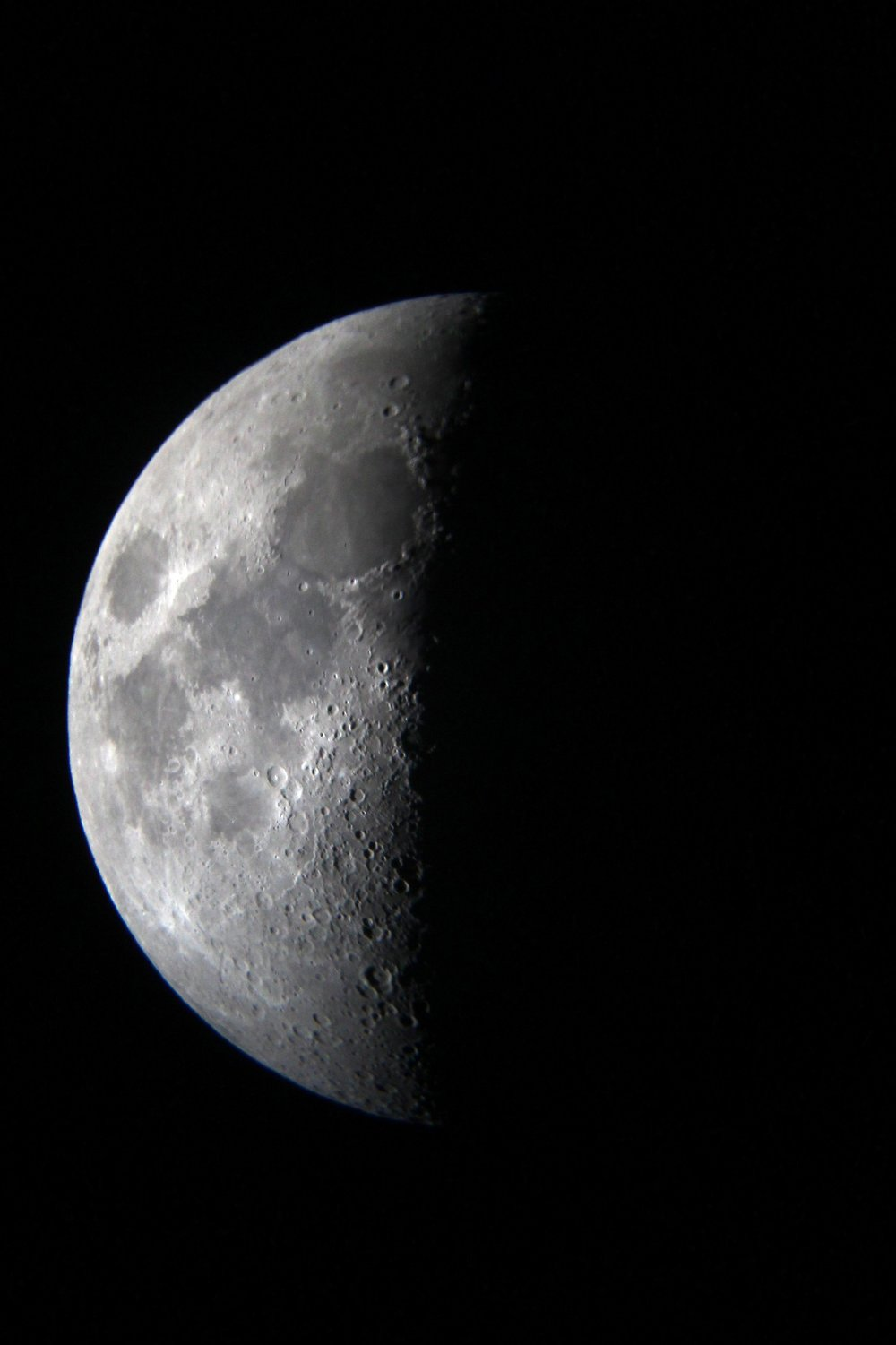 They even had a photography telescope so Blakely was able to snap this picture of the half-moon!